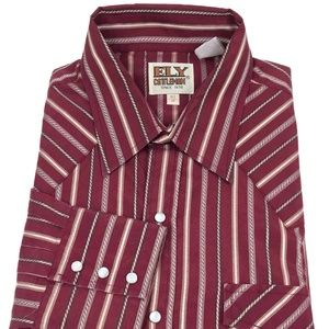 Ely Cattleman Western Pearl Snap Shirt Men's Large